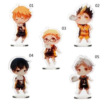 8 5cm Anime Haikyuu śliczne figurki modele płyt biurkowych Anime akrylowe stojaki zabawki modele figurki tanie i dobre opinie discountHEH CN (pochodzenie) V4OKH5DMK311852