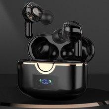 Tiyiviri tws fones de ouvido bluetooth 5.1 in-ear toque sem fio fone de ouvido baixo estéreo alta fidelidade música controle de volume 4 microfones para o telefone