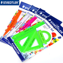 4 pcs/set New Straight Ruler Protractor Students Math Geometry Soft Bendable Plastic Triangle Ruler Set Office School Supplies 10pcs plastic metal protractor set geometry drawing eraser eraser ruler compasses math set for school students high quality