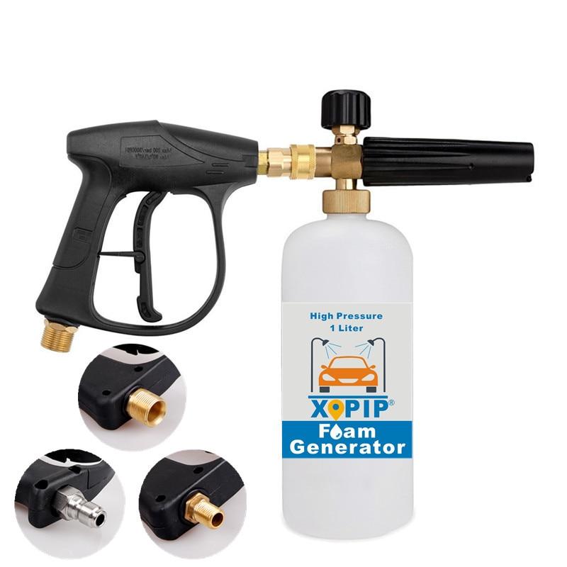 Пистолет-распылитель для автомойки высокого давления, пенная насадка, генератор, устройство для мойки высокого давления, 1 л
