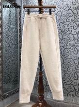 Высокое Качество Штаны 2020 осень зима повседневные штаны для