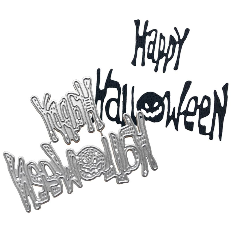 Happy <font><b>Halloween</b></font> Cutting <font><b>Dies</b></font> Stencil DIY Scrapbooking Album <font><b>Stamp</b></font> Card Embossing image