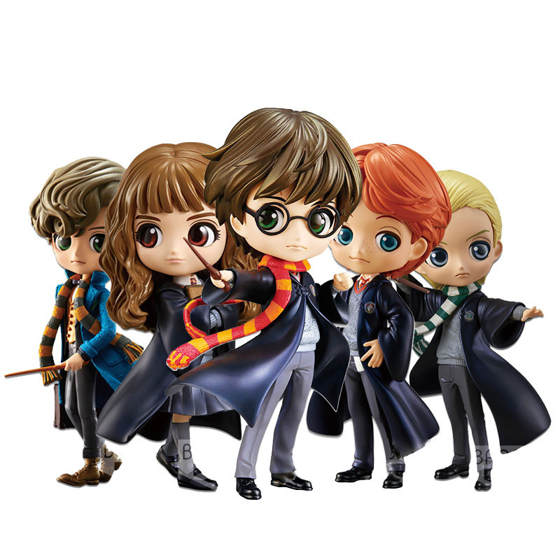 Q Posket Harry Potter Hermione PVC Anime Dolls Figures Collectible Model Kids Toys