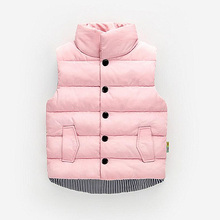 Kids vest sleeveless cotton-padded jacket Children's clothing waistcoats cotton Winter Autumn toddler vest outwear Jacket цена 2017