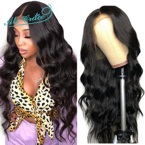 Wigs Human-Hair-Wigs Ali-Grace Natural-Hairline Body-Wave Lace-Front Brazilian