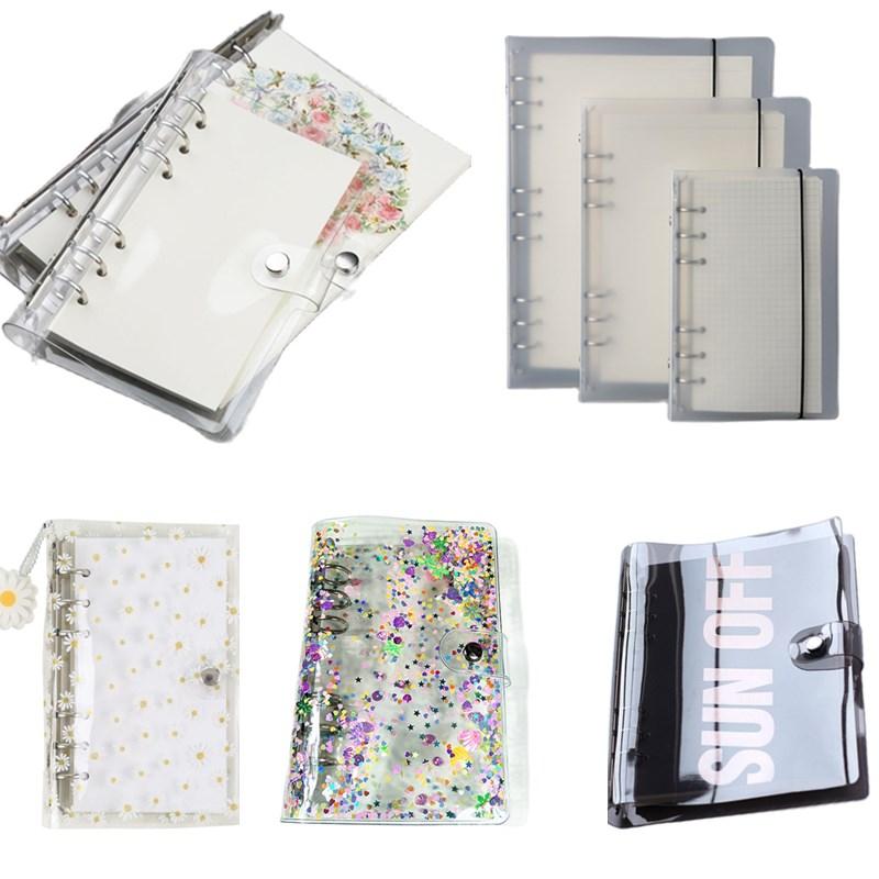 Diary 2021 A5 A6 Laser Transparent Notebook Planner Organizer Binder Books Journal Spiral Personal  Clear Shell