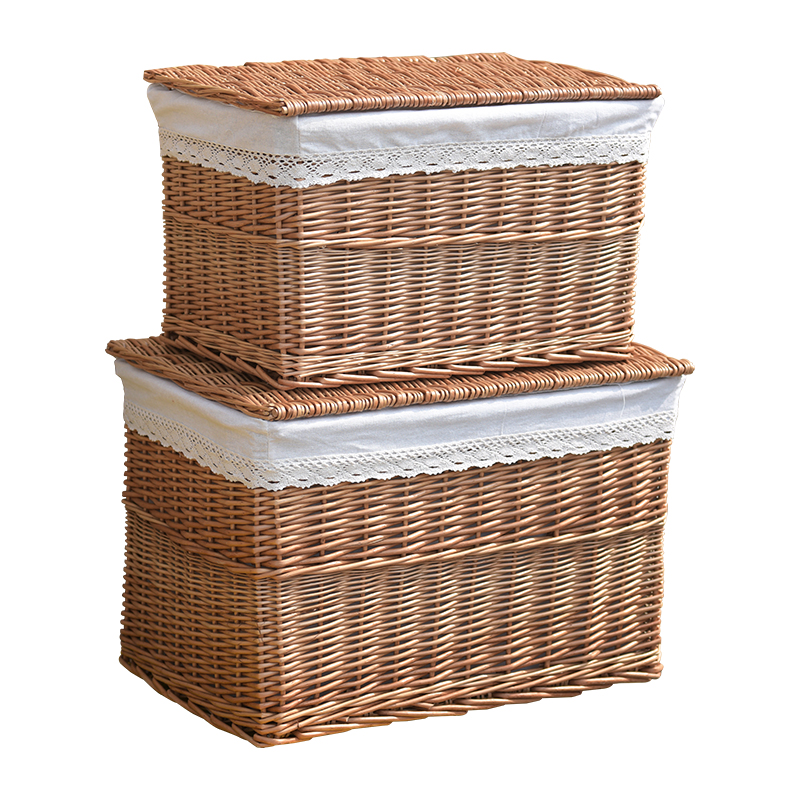 Wood Laundry Hamper Storage Cabinet Wicker Clothes Basket With Lid 2 Cloth Bags