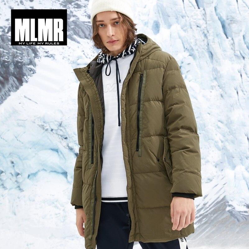 JackJones Men's Winter Mid-length Warm Down Jacket 218412523