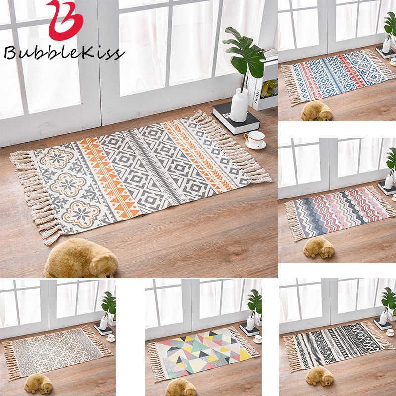 거실 용 Morroco 카펫 침실 깔개 면화 Tassels 소파 염색 테이블 Ruuner 침대보 태피스 트리 홈 인테리어 60X90cm 크기