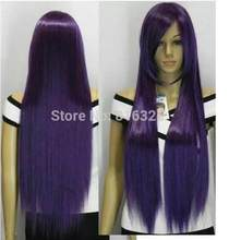 D & % M32056> Hoge temperatuur variabele vorm dark purple lange rechte cosplay pruik(China)