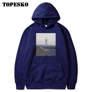 Image 3 - TOPESKOตลกUpside Downนักบินอวกาศพิมพ์Hoodiesเสื้อSpaceman Harajuku Hip Hop Casual Pullover Hooded Streetwear