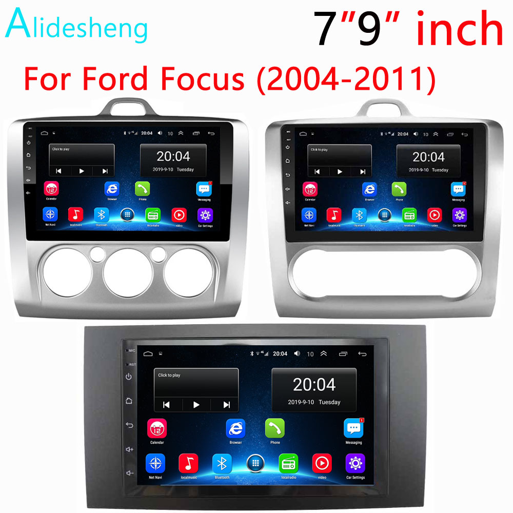 "7""9""inch 2Din Android 8.1GO car dvd Multimedia player GPS for Ford Focus EXI MT MK2 MK3 2004 2009 2010 2011 navigation Radio BT