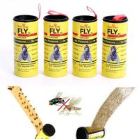 4 Rolls Strong Sticky Fly Paper Eliminate Flies Insect Bug Home Glue Paper Catcher Trap Fly Bug Mosquito Killer Buzz Fly Trap|Armadilhas| |  -