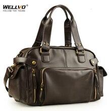 Мужская сумка в английском ретро стиле, сумка на плечо, кожаные мужские большие сумки через плечо, брендовая Высококачественная Мужская Дорожная сумка через плечо XA158ZC