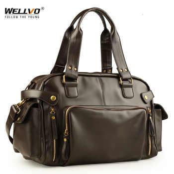 Male Bag England Retro Handbag Shoulder Bag Leather Men Big Messenger Bags Brand High Quality Men's Travel Crossbody Bag XA158ZC - DISCOUNT ITEM  39% OFF All Category