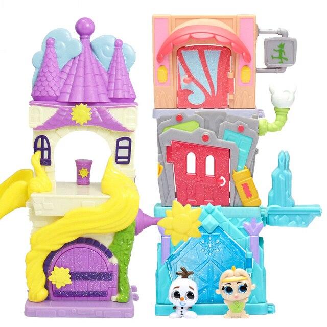 Disney Doorables Frozen Elsa Olal Mickey Minnie Judy Pinocchio Rapunzel Alice Snow White Belle Princess Blind Box Girl Kids Toys 4