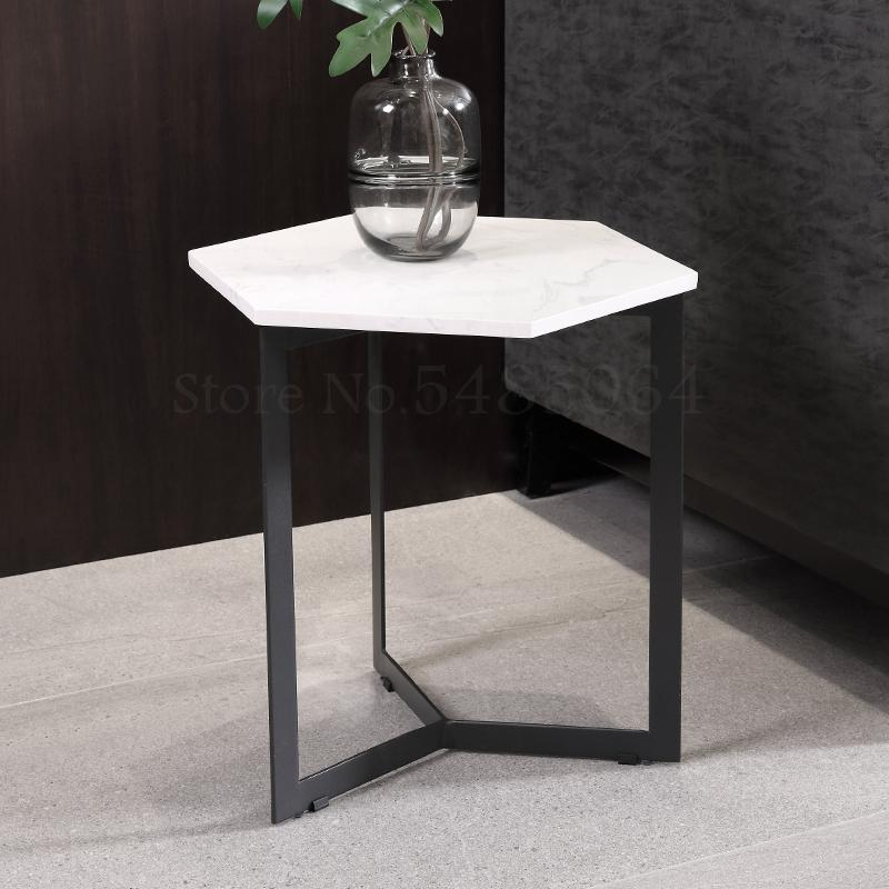 Hexagon Side Table Sofa Side Cabinet Sitting Room Corner Side Table Small Coffee Table Bedside Marble Desktop Bathroom Rack Aliexpress