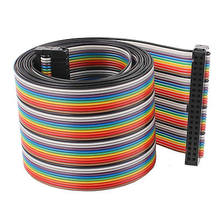 4.8ft 40 Pin 40 Way F/F Connector IDC Flat Rainbow Ribbon Cable 2.54mm Pitch(China)