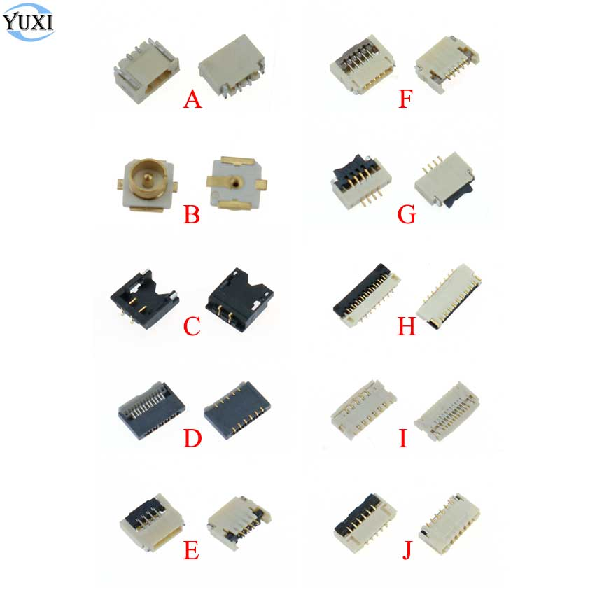 YuXi 2pcs Replacement Parts For Nintend Switch NS Joy Con PCB Board Flex Cable  Connector Socket Clip Spare Parts