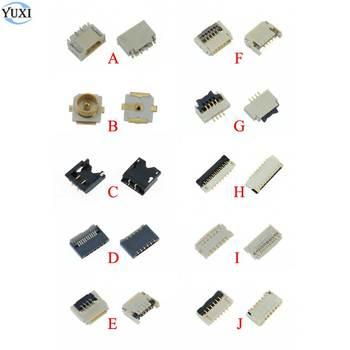 цена на YuXi 2pcs Replacement Parts For Nintend Switch NS Joy Con PCB Board Flex Cable  Connector Socket Clip Spare parts