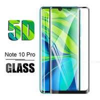 5d pieno vetro di protezione su xio mi note 10pro vetro temperato per xiaomi mi note 10 pro 10pro mi 10 note10 pro schermo pellicola della protezione