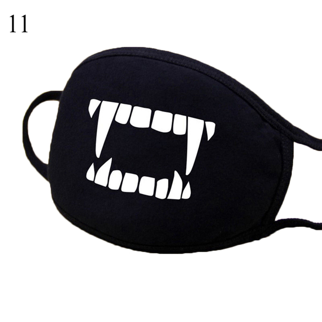 Hot Men Women Mouth Mask Fashion Cartoon Anime Face Mask Outdoor Face Warm Face Mask Unisex Cartoon Black Mask Kpop Black mask 5