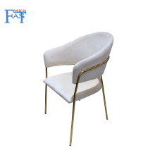 2 pcs Dining chair with Flannelette velvet,kitchen chair on  stainless steel foot ,modern easy home chair soft seat cushion