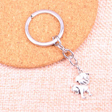 20pcs lovely dog Keychain 21*16mm Pendants Car Key Chain Ring Holder Keyring Souvenir Jewelry Gift(China)