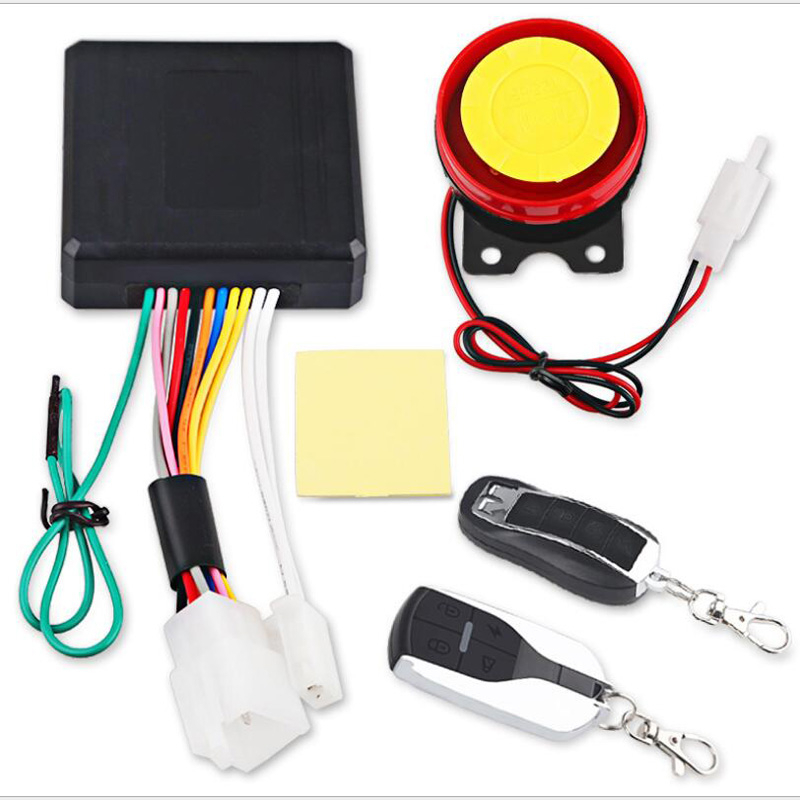Universal Motorcycle Bicycle Alarm System Scooter Anti-theft Security Alarm Remote Engine Star