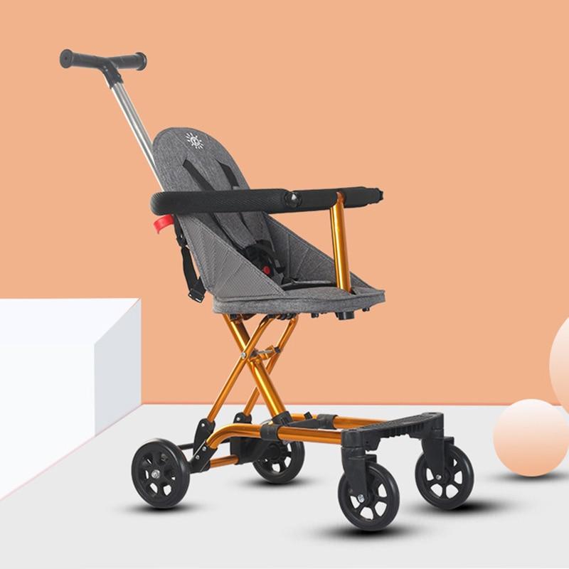 High Landscape Stroller Ultra-light Baby Stroller Foldable Children 1-6 Years Old Stroller Baby  Travel Stroller  Hot Mom