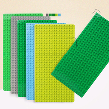32*16 Dots Base Plate For Small Bricks Baseplate Boards City DIY Building Blocks Set Parts Educational Toys For Children Gifts marumine plate 8 x 16 boys and girls toys compatible building blocks set base plate diy classic educational bricks