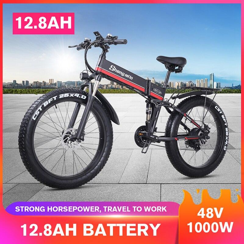 Elektrische Fahrrad 26 zoll 4,0 Fett reifen Klapp Erwachsenen Lithium Batterie 48v 1000W Fahrrad Ebike Berg Motorrad Schnee E bike