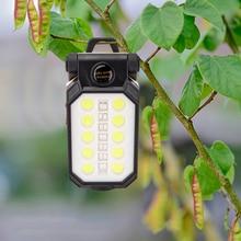 Rechargeable LED Flashlight Emergency Inspection Lamp Multi Function Folding Work Light 4 Modes Folding Work Light