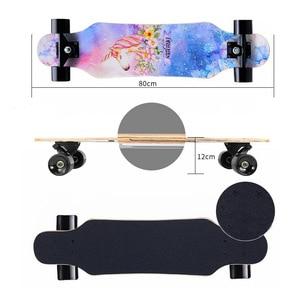 """Image 3 - 31 """"erwachsene Kinder Mini Komplette Longboard Flache Platte Skateboard Ahorn Holz Deck Skate Board Mini Straße Tanzen Longboard"""