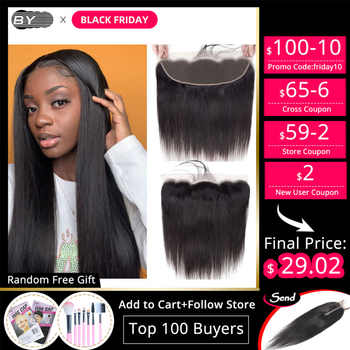 [BY] 13*4 Lace Frontal Closure Free TO Brazil Straight Brazilian Meches With Closure Wholesale Human Hair Lace Frontal Closure - Category 🛒 Hair Extensions & Wigs