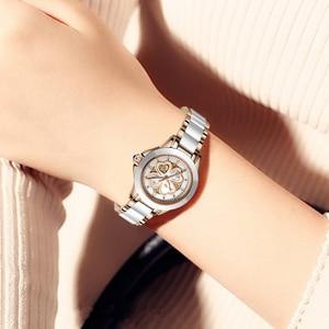 Image 3 - Часы наручные SUNKTA женские кварцевые, модные водонепроницаемые с керамическим браслетом