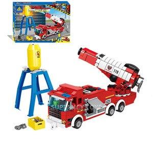 Image 5 - Ville incendie sauvetage véhicule forêt échelle camion de pompier voiture blocs de construction définit pompier Brinquedos jouets éducatifs pour les enfants