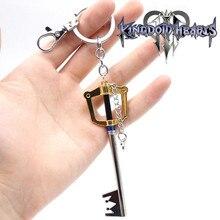 Reino corações cosplay acessórios sora keyblade chave pingentes chaveiro figuras anime arma charme chaveiros