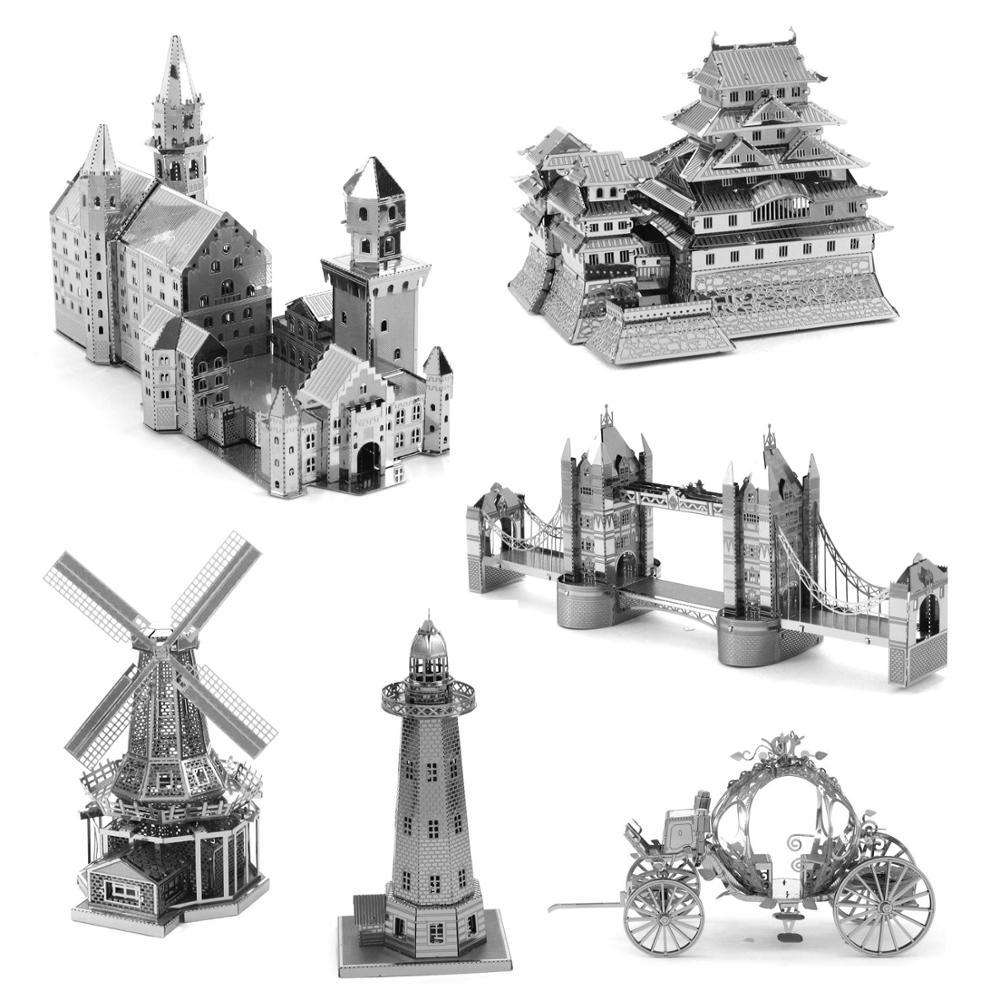 Architecture 3D Metal Puzzle Building Model Kits DIY Laser Cut Assemble Jigsaw Toy Desktop Decoration GIFT For Audit Children