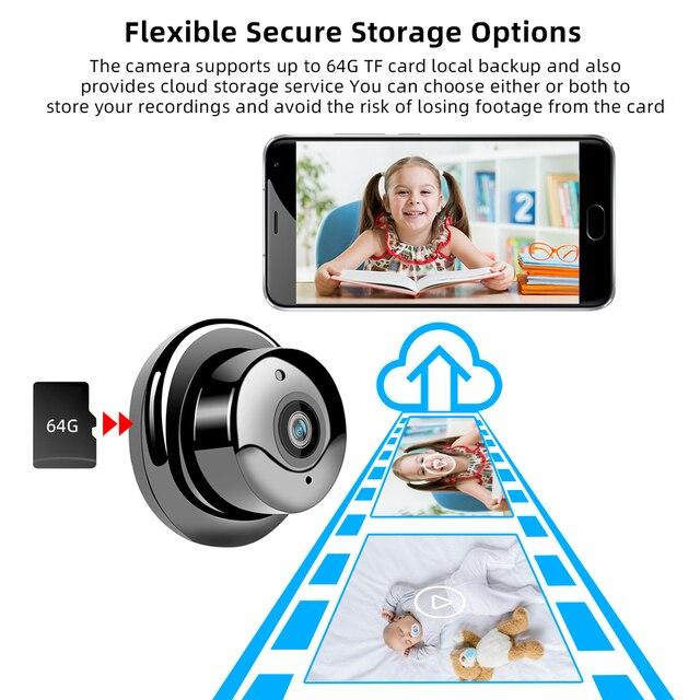SDETER 1080P Wireless Mini WiFi Camera Home Security Camera IP CCTV Surveillance IR Night Vision Motion Detect Baby Monitor P2P 4