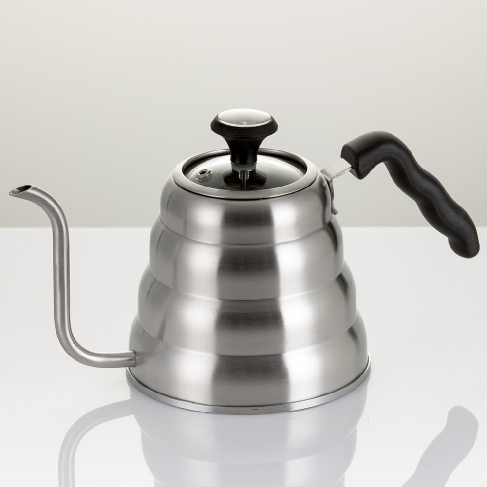 Coffee Gator Pour Over Kettle Goose-neck Spout With Thermometer For Coffee Teapot Tools 2019 Original Stainless Steel Teapot