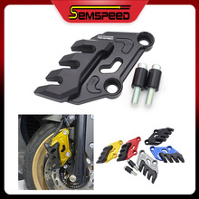 SEMSPEED Motorcycle Front Brake Caliper Cover Guard Protector For YAMAHA NMAX 125 NMAX 150 NMAX 155 2016-2020 NMAX V2 브레이크 캘리퍼