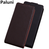 Business Style Genuine Leather Vertical Flip Case For Sony Xperia Z3 Compact/Sony Xperia Z3 Vertical Phone Up and Down Case Capa