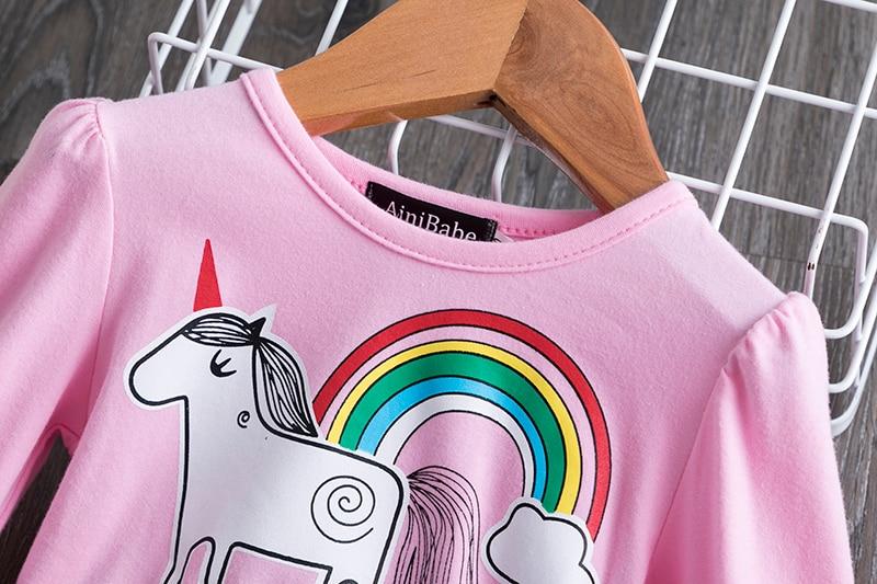 H3a24322cf6fe480ea4312f394a67ce65l 3-8 Years Girls Dress Long Sleeve Kids Unicorn Party Vestidos Fancy Children Princess Dresses Kids Birthday Dress For Girl