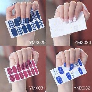 Image 2 - Koreanischen Stil Nail Sticker Nail Wraps Mixed Styles Volle Abdeckung Nagel Vinyls Decals Dekorationen DIY