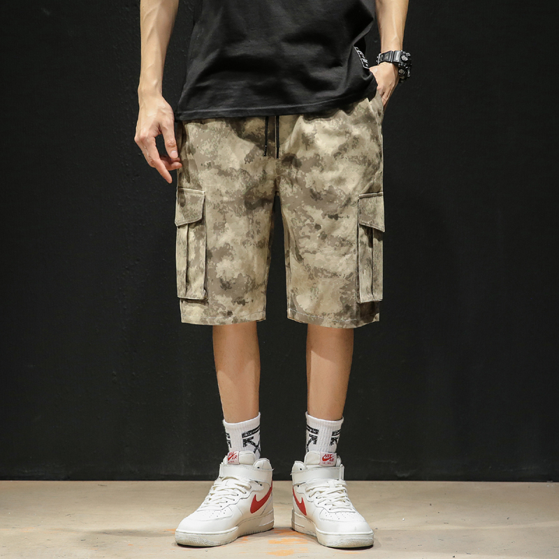Camouflage Camo Cargo 5XL Men 2020 New US Mens Casual Shorts Male Loose Military Knee Length trousers Plus Size 4XL K1966
