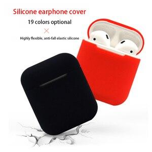 Image 2 - Miękki futerał silikonowy słuchawki dla Apple Airpods przypadku Bluetooth bezprzewodowy słuchawki ochronne pudełko z przykrywką dla Air Pods ucha strąków torba