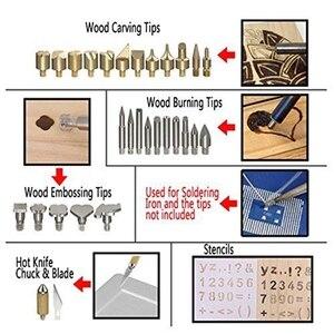 Image 3 - ABSF EU Plug 45 Uds Kit de quema de madera, creativo juego de quemador de madera con soldadura de temperatura ajustable pirograbado de madera