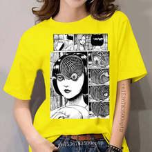 Uzumaki Cotton T Shirt Junji Ito Tees Horror Manga Tomie Tshirt Short Anime Japanese T-Shirt 's Clothes Designs