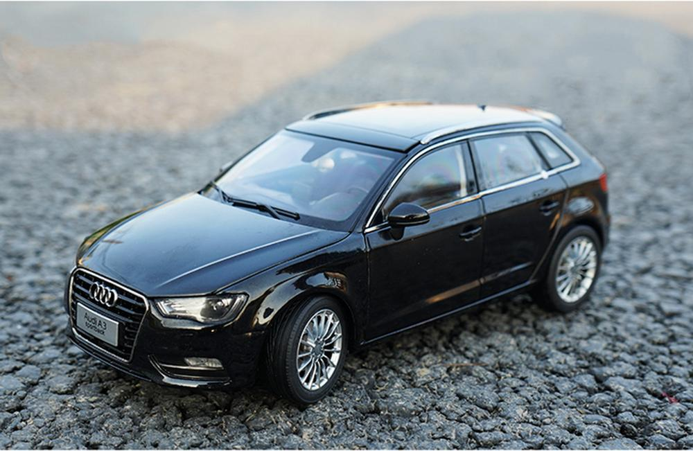 1/18 Scale <font><b>Audi</b></font> <font><b>A3</b></font> Sportback Black DieCast <font><b>Car</b></font> Model <font><b>Toy</b></font> Collection Gift image